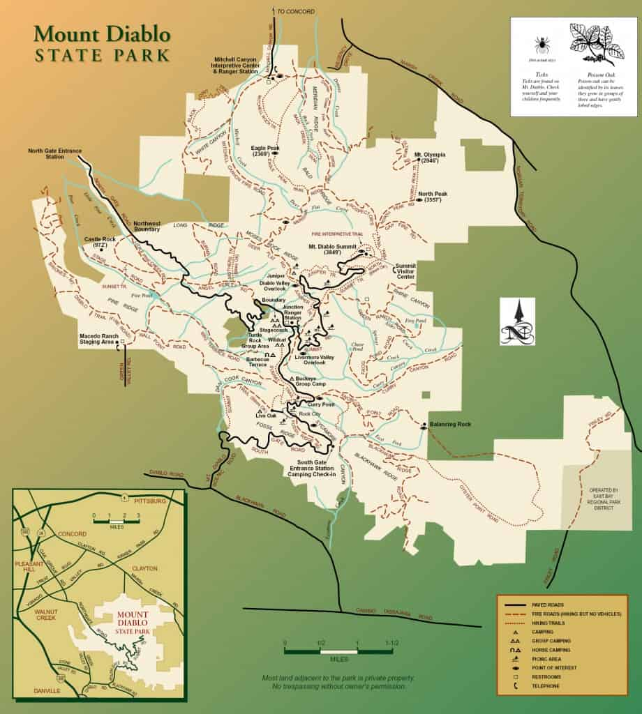 Mt-Diablo-State-Park-Map