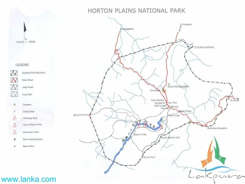 Horton Plains National Park Map