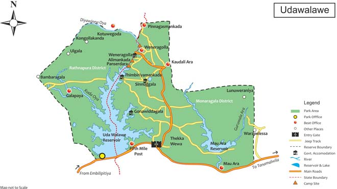 Udawalawe National Park Map