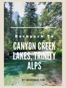 canyon creek lakes, trinity alps