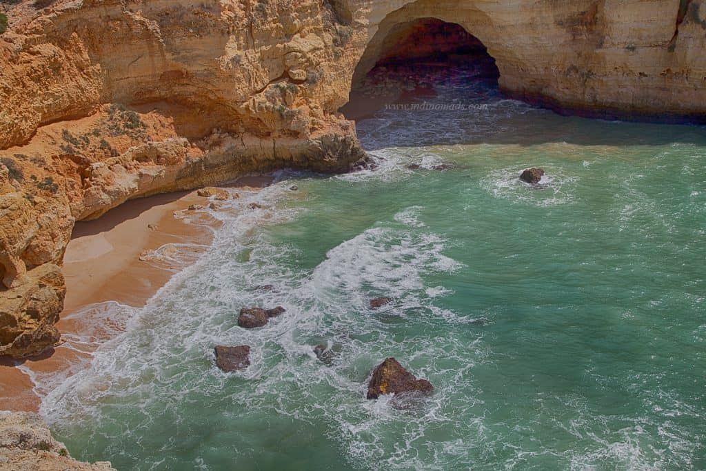 Cave beaches in Algarve