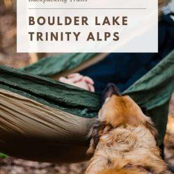 Boulder Lake Trinity Alps
