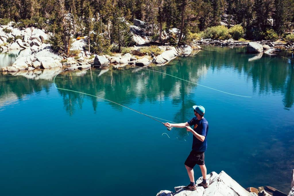 Boulder Lake Trinity Alps Fishing