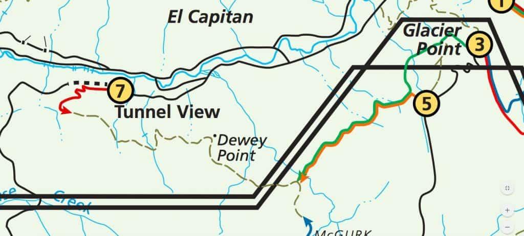 Pohono Trail Map