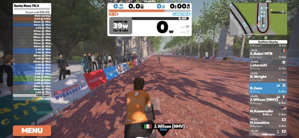 Santa Rosa 70.3 on Zwift