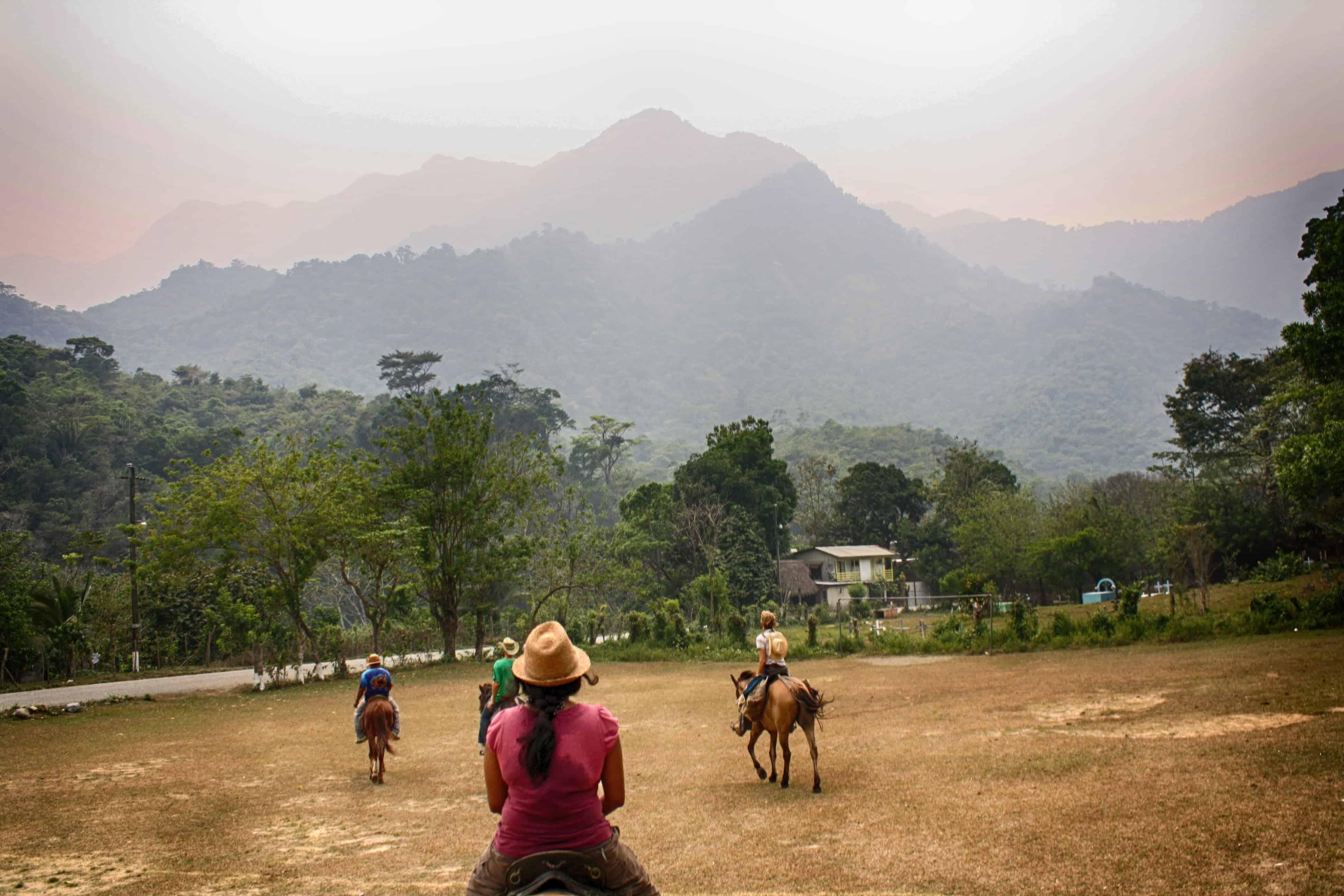 Horseback riding with hostel buddies
